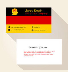 germany flag color business card design eps10 vector image