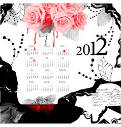 template for calendar 2012 vector image vector image