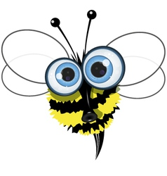 angry buzzy bee vector image vector image