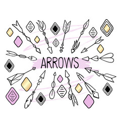 arrows clipart on white background hand vector image vector image
