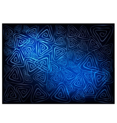 Blue Vintage Wallpaper with Triangle Spiral vector image