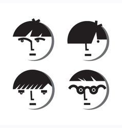 Boy Avatar Icons vector image vector image