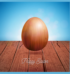 happy easter holiday with vector image vector image