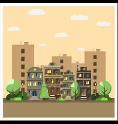 landscape night city vector image vector image