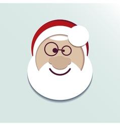 Paper head Santa Claus vector image vector image