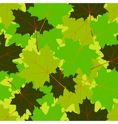 Summer leaves seamless pattern vector image