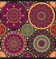 texture with mandalas vector image