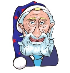 The president Putin in the form of Santa a vector image vector image