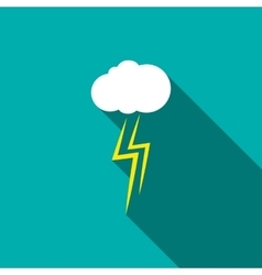 Thunderstorm cloud icon flat style vector image