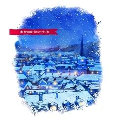 Winter Prague vector image