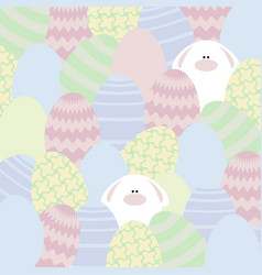 card with eggs and rabbits vector image vector image