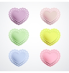 Lacy heart shapes collection vector image