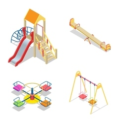 Playground Playground slide theme elements vector image vector image
