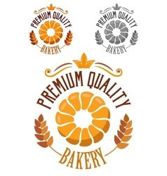 Premium Bakery badge or label vector image vector image