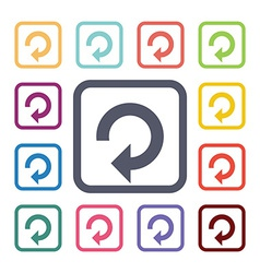 reload flat icons set vector image
