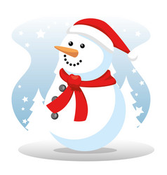 christmas big winter sale vector image