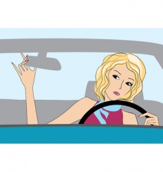driver girl vector image vector image
