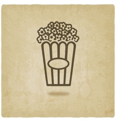 Popcorn old background vector