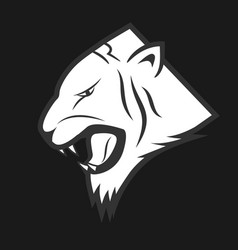 tiger lable vector image