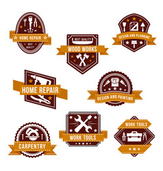 Work tools icons set for home repair design vector