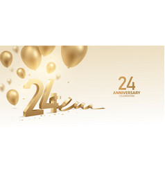 24th anniversary celebration background vector image