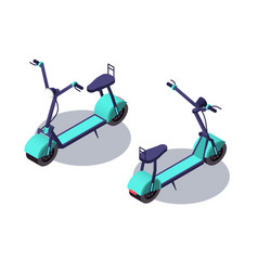 3d isometric electric scooter for youth rest vector image