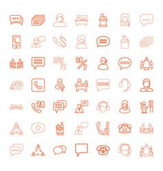 49 talk icons vector image
