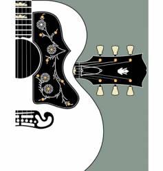 acoustic guitar-bg-w-headstock vector image
