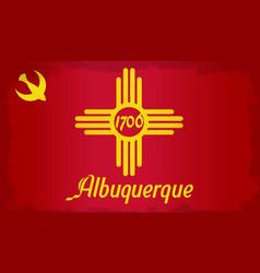 Albuquerque city flag vector