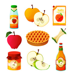 Apple food fruit products desserts sweets juice vector