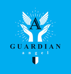 archangel conceptual symbol for use in catechesis vector image