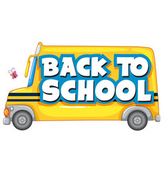 back to school template with school bus vector image