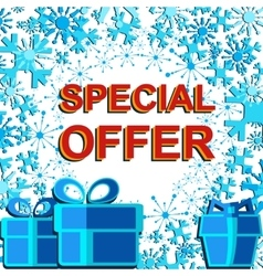 Big winter sale poster with SPECIAL OFFER SALE vector