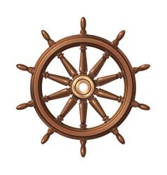 Boat handwheel ship wheel helm vector