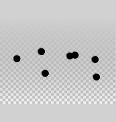 bullet hole drip mark shoot shot impact gun vector image