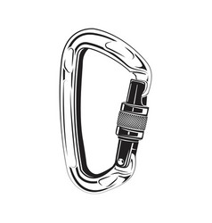Carabiners climbing monochrome vector