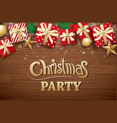 Christmas party poster background design template vector