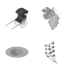 Coal viticulture and other monochrome icon in vector