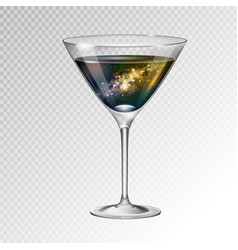 Cocktail cosmopolitan glass with space background vector