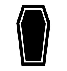coffin insurance concept funeral subject lid vector image