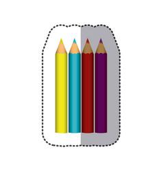 Color pencils color icon vector