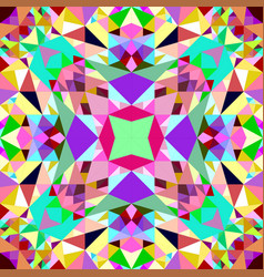 Colorful kaleidoscope pattern background design vector