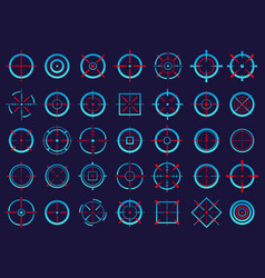 creative of crosshairs icon vector image