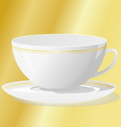 Cup with saucer vector