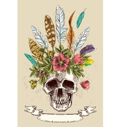 Decorative poster boho style vector