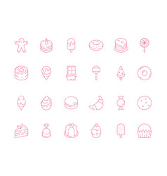 dessert food icon sweets chocolate cakes and vector image