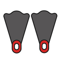 diving fins isolated icon vector image