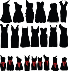 Dresses for parties vector image