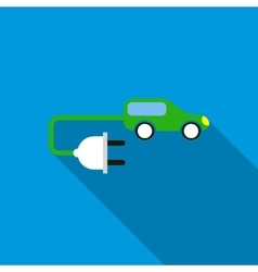 Electric car icon flat style vector