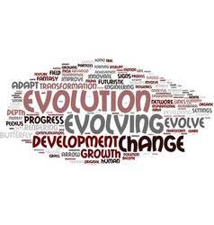 evolving word cloud concept vector image